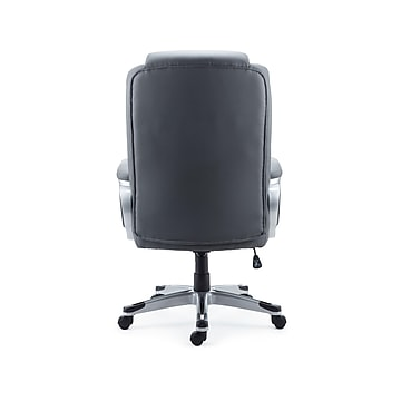 Staples Mcallum Bonded Leather Manager Chair, Gray (51474)