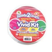 Ready2Learn™ Jumbo Circular Washable Stamp Pad, Vivid Kit (CE-6618)