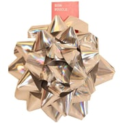 "JAM Paper® Gift Bows, Extra Large, 9"" Diameter, Silver, 12/carton"