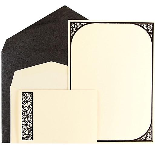 jam paper wedding invitation combo set 1 small 1 large ecru