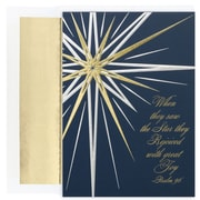 JAM Paper® Christmas Card Set, Brite Star Holiday Cards, 16/pack