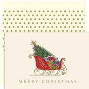 JAM Paper® Christmas Card Set, Classic Sleigh Holiday Cards, 18/pack