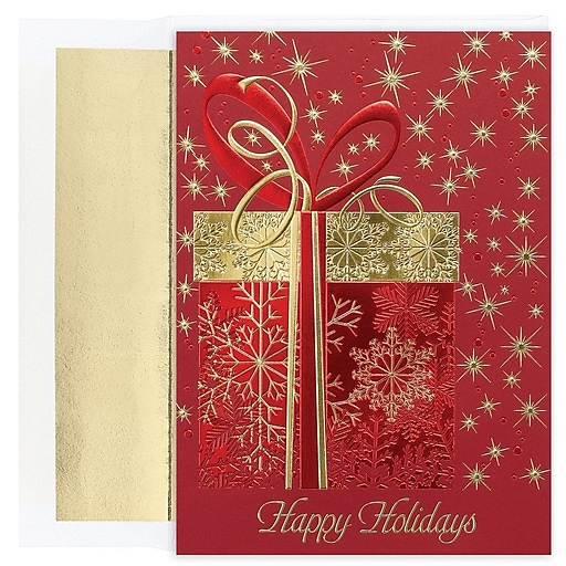 Shop Staples For JAM Paper® Christmas Card Set, Glittering