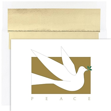 JAM Paper® Christmas Card Set, Peace Dove Holiday Cards, 18/pack