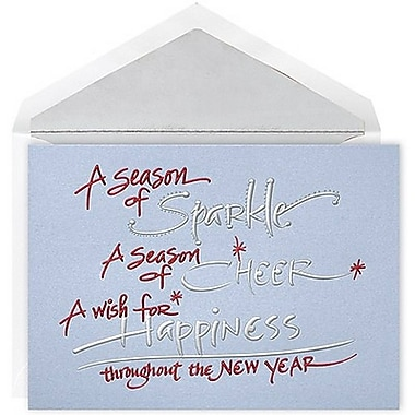 JAM Paper® Christmas Card Set, Season of Sparkle Holiday Cards, 12/Pack (526E1200MB)