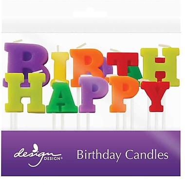 JAM Paper® Specialty Birthday Candles, ' Happy Birthday ' Specialty Candle Set, 2 3/4