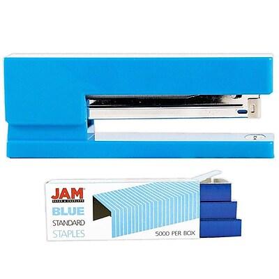 JAM Paper® Office & Desk Sets, (1) Stapler (1) Pack of Staples, Blue, 2/pack