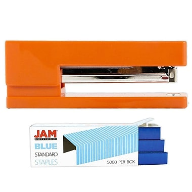 JAM Paper® Office & Desk Sets, Stapler Pack of Staples, Orange and Blue (3375ORBL)