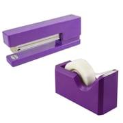 JAM Paper® Office & Desk Sets, (1) Stapler (1) Tape Dispenser, Purple, 2/pack