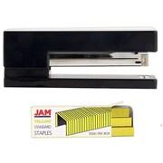 JAM Paper® Office & Desk Sets, 1 Black Stapler & 1 Pack of Yellow Staples, 2/Pack (3375bkye)