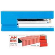 JAM Paper® Office & Desk Sets, (1) Stapler (1) Tape Dispenser, Blue and Red, 2/pack