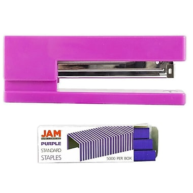 JAM Paper® Office & Desk Sets, Stapler Pack of Staples, Pink and Purple (3375PIPU)