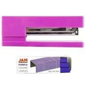 JAM Paper® Office & Desk Sets, (1) Stapler (1) Pack of Staples, Pink and Purple, 2/pack