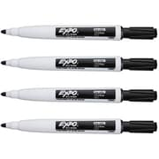 Expo Dry Erase Markers, Fine Point, Black, 4/Pack (1944745)