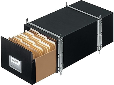 Bankers Box Staxonsteel Letter 1 Drawer File Storage, Black, 6/Carton (00511)