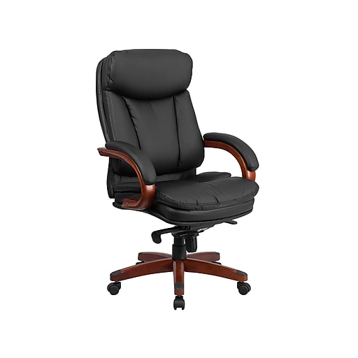Flash Furniture LeatherSoft Executive Chair, Black/Mahogany (BT-90171H-S-GG)