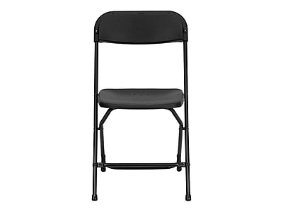 Exceptionnel Flash Furniture HERCULES Series 800 Lb. Capacity Plastic Folding Chair,  Black, 10/Pack | Staples