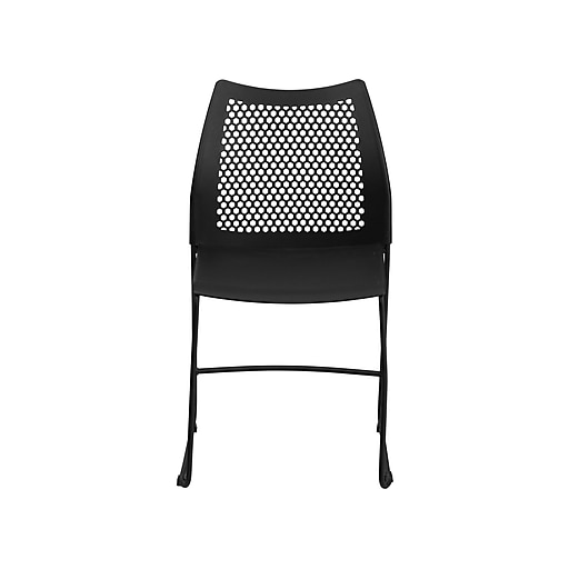 Flash Furniture HERCULES Plastic Student/School Chair, Black (RUT-498A-BLACK-GG)