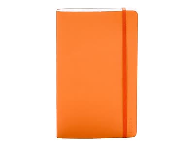 "Poppin Professional Notebook, Medium, 5"" x 8.25"", College Ruled, 96 Sheets, Orange (100009)"