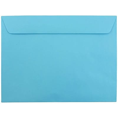 JAM Paper® 9 x 12 Booklet Envelopes, Blue Recycled, 250/pack (5156774h)