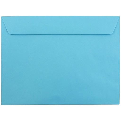JAM Paper® 9 x 12 Booklet Catalog Colored Envelopes, Blue Recycled, Bulk 500/Box (5156774d)