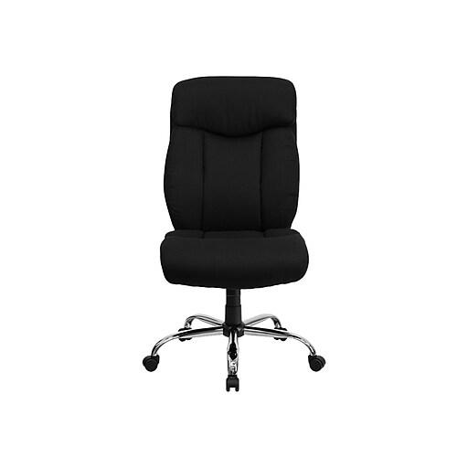Flash Furniture HERCULES Fabric Executive Big & Tall Chair, Black (GO-1235-BK-FAB-GG)