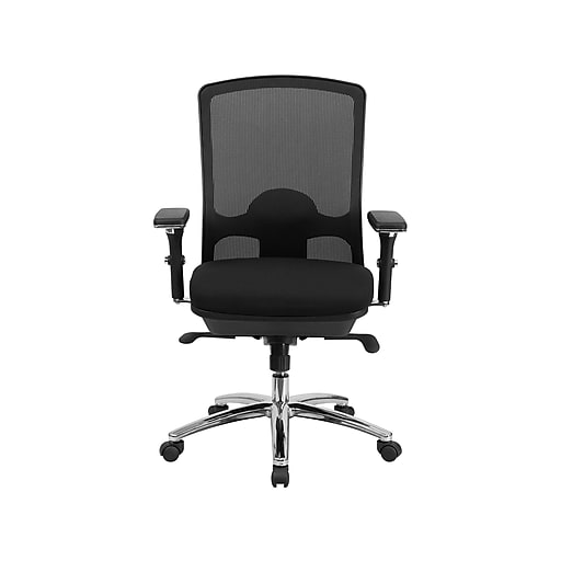 Flash Furniture HERCULES Mesh Back Fabric Computer & Desk Big & Tall Chair, Black (LQ-2-BK-GG)