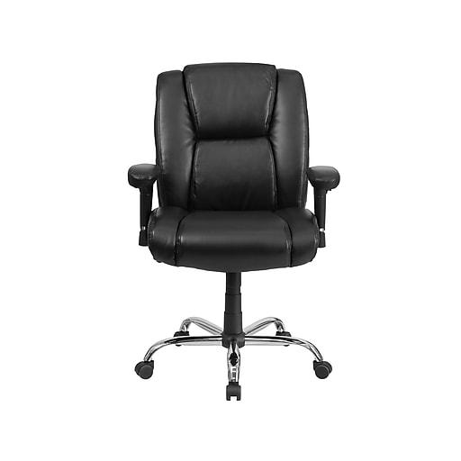 Flash Furniture HERCULES LeatherSoft Computer & Desk Big & Tall Chair, Black (GO-2132-LEA-GG)