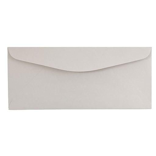 JAM Paper® #12 Business Envelopes, 4.75 x 11, Grey Kraft, 50/Pack (370031865i)