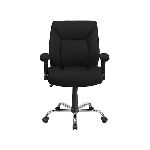 Flash Furniture HERCULES Fabric Computer & Desk Big & Tall Chair, Black (GO-2073F-GG)
