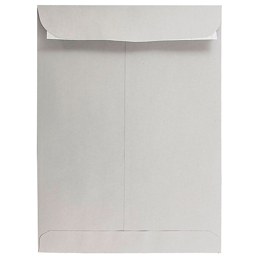 JAM Paper® 9 x 12 Open End Catalog Envelopes with Peel and Seal Closure, Light Grey, 25/Pack (12931115a)