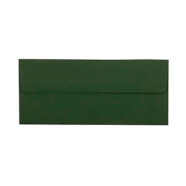 JAM Paper® #10 Business Envelopes, 4.125 x 9.5, Dark Green, 25/pack (21514959)