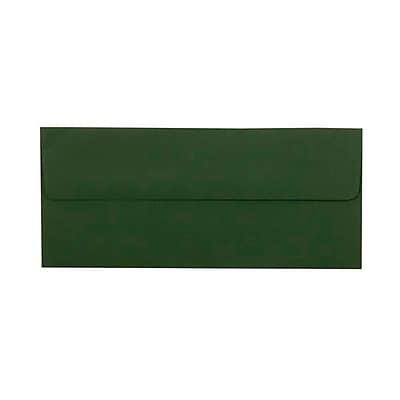 JAM Paper® #10 Business Envelopes, 4.125 x 9.5, Dark Green, 25/pack (21514959)