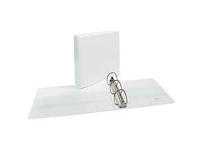 """Avery Durable 3"""" 3-Ring View Binder, White (09701)"""