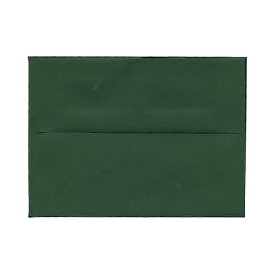 JAM Paper® A2 Invitation Envelopes, 4 3/8 x 5 3/4, Dark Green, 25/pack (1512744)