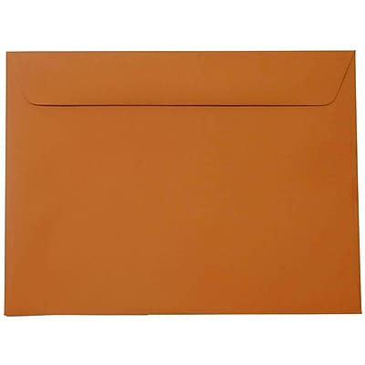 JAM Paper® 9 x 12 Booklet Envelopes, Dark Orange, 250/pack (61511366h)