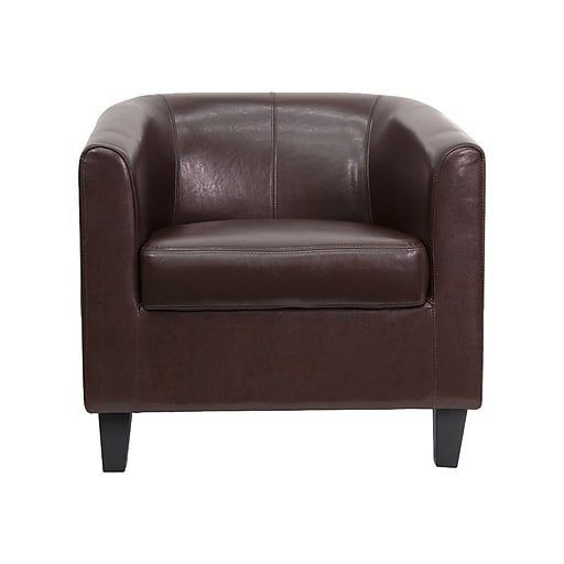 Flash Furniture Leather Guest Chair, Brown (BT-873-BN-GG)