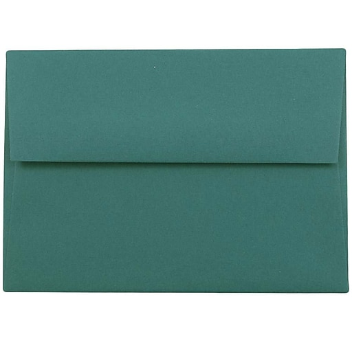 JAM Paper® 4Bar A1 Invitation Envelopes, 3.625 x 5.125, Teal, 50/Pack (5157435i)
