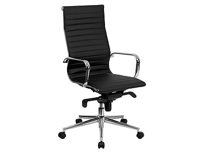 Flash Furniture High Back Ribbed Upholstered Leather Executive
