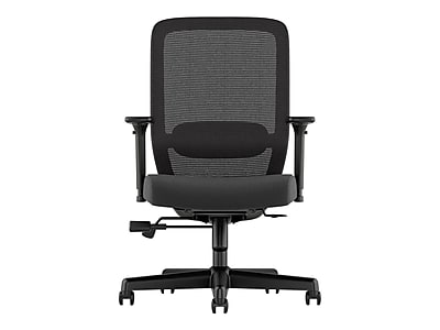 basyx by HON Exposure Mesh Back Leather Task Chair, Black (BSXVL721SB11)