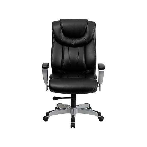 Flash Furniture HERCULES LeatherSoft Executive Big & Tall Chair, Black (GO-1534-BK-LEA-GG)