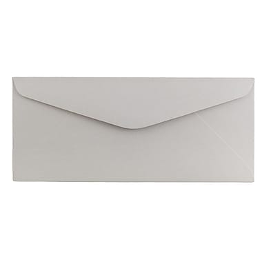 JAM Paper® #11 Business Commercial Envelopes, 4 1/2 x 10 3/8, Grey Kraft, 1000/carton (370031864b)