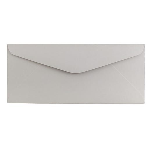 JAM Paper® #11 Business Envelopes, 4.5 x 10.375, Grey Kraft, 25/Pack (370031864)