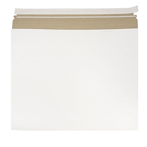 JAM Paper® Expandable Photo Mailer Envelopes with Self-Adhesive Closure, 17 x 14 x 1, White, 6 Rigid Mailers/Pack (48906708b)