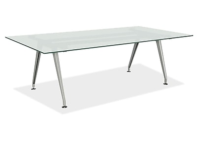 OfficeSource 72u0027u0027 Rectangular Conference Table, Frosted Glass  (GT7245REFROSTED)   Staples