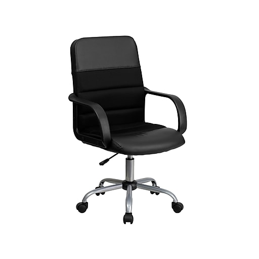 Brilliant Flash Furniture Mesh Back Leathersoft Task Chair Black Lf W 61B 2 Gg Ocoug Best Dining Table And Chair Ideas Images Ocougorg