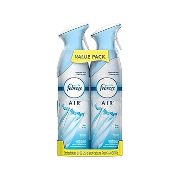 Febreze Odor-Eliminating Air Freshener with Linen & Sky Scent, 2 count, 8.8 oz each (97799)