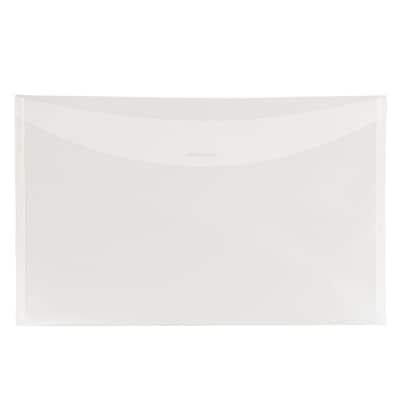 JAM Paper® Plastic Envelopes with Tuck Flap Closure, Legal Booklet, 9