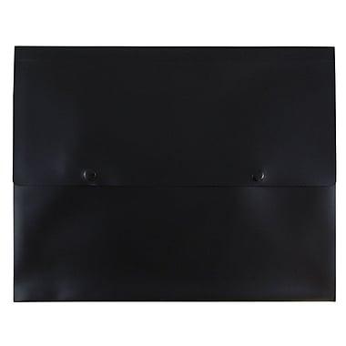 JAM Paper® Plastic Portfolio with Two Button Snap Closure, 1