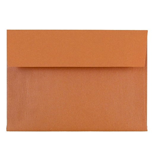 JAM Paper® 4Bar A1 Metallic Invitation Envelopes, 3.625 x 5.125, Stardream Flame Orange, 50/Pack (352231796i)
